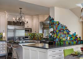 Tropical Kitchen Design by Tropical Colors In A Kitchen Backsplash Handmade Ceramic Tile