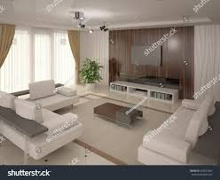 cozy and comfortable modern cozy comfortable seating 3d rendering stock illustration