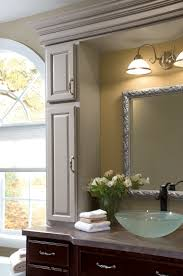 a wall tower will add extra storage to your vanity see more at