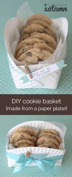 cookie basket easy diy cookie basket made from a paper plate it s always autumn