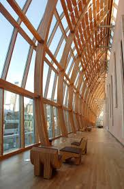 Interior Design Schools In Toronto by Frank Gehry Wood Interior For Glass Entrance Lobby Of