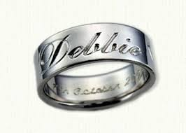 personalized wedding band personalized wedding rings custom designed bands affordable