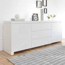White Gloss Sideboards Sideboards Contemporary Dining Room Furniture From Dwell