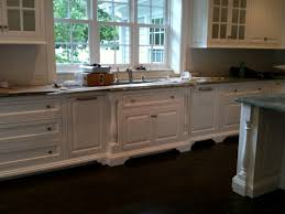cabinet feet forward set sink split post mouldings kitchen