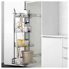Pull Out Laundry Cabinet Utrusta Pull Out Rack For Cleaning Supplies Ikea
