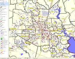 houston map districts houston area decision information resources