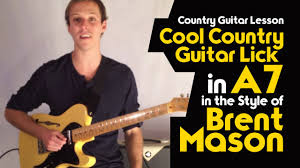 country guitar lesson cool country guitar lick in a7 in the style