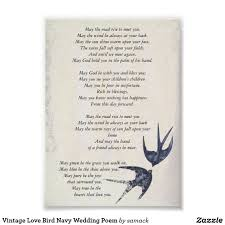 vintage love bird navy wedding poem poster wedding nautical