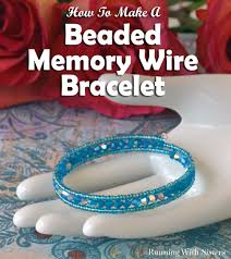 make bead bracelet wire images Caribbean blue memory wire bracelet running with sisters jpg