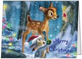 Business Printed Christmas Cards Your Words Bambi And Thumper Personal Business Custom Christmas