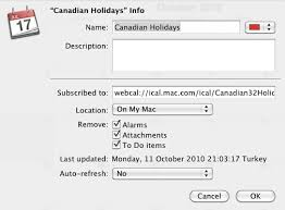 canadian calendar for mac