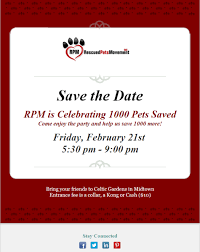 Save The Date Emails Excellent Rescued Pets Movement Event Announcement Templates With