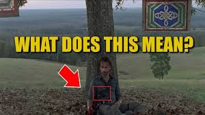 the walking dead season 8 wounded rick theory what does the bloody