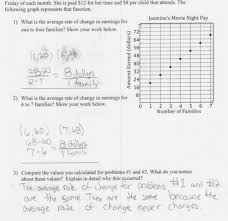 identifying rate of change students are asked to calculate and