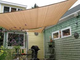 Shade Awnings For Decks Amazon Com Shade U0026beyond 8 U0027 X 10 U0027 Rectangle Sand Color Sun Shade