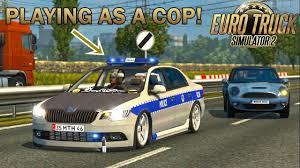 mod car game euro truck simulator 2 playing as the police in ets2 euro truck simulator 2 youtube