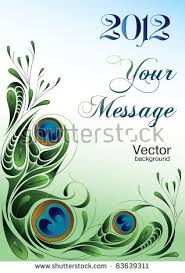 set backgrounds celebrate wedding watercolor peacock stock vector