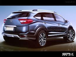 mobil honda brv production spec honda br v crossover rear end rendering