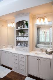 Bamboo Bathroom Cabinet Vanity By Omega Bathroom Farmhouse With Open Shelves Freestanding