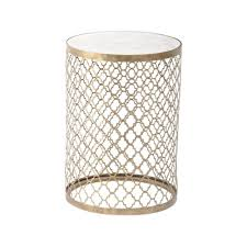 vintage gold side table buy antique gold side table with mirrored top from fusion living