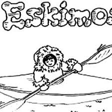 awesome picture of an eskimo coloring page awesome picture of an