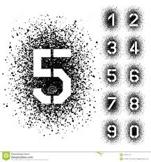 Font Spray Paint - spray stencil angular font numbers stock vector image 49401457