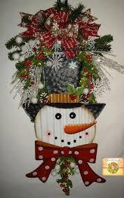 snowman swag wreath pine teardrop swag snowman by starlightwreaths