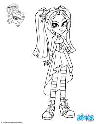aria blaze coloring pages hellokids