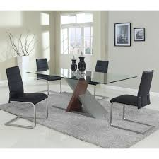 chintaly mavis 5 piece faux leather dining table set hayneedle
