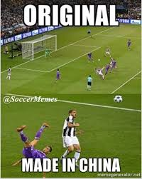 Facebook Soccer Memes - soccer memes mandzukic goal vs ronaldo s bicycle attempt facebook