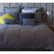 lisbon bed linen in slate grey 100 linen bed linen