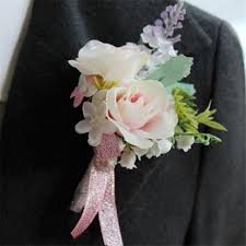 corsage for prom artificial wedding flower best boutonnieres groom groomsman