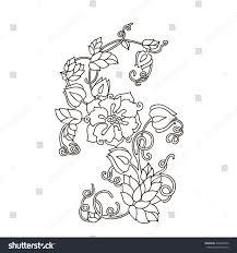 spring flowers black white bouquet vector stock vector 393390040