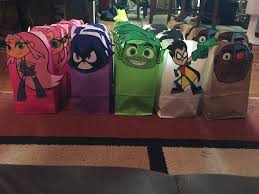 Halloween Teen Party Ideas by Teen Titans Go Party Bags Crafty Pinterest Teen Titans