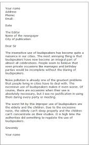 sample letters to the editor formal letter samples