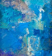 abstract blue colored layer artwork opaque and transparent oil
