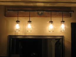 Bar Light Fixtures by Light Bar Out Of Galvinized Plumbing And Mason Jars Our Master