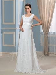 maternity wedding dresses 100 pregnancy a line lace empire waist maternity wedding dress