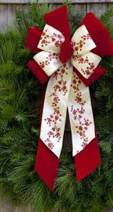bows for wreaths happy holidays