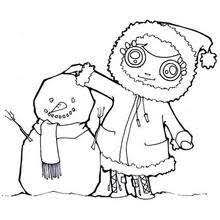 snowmen coloring pages hellokids