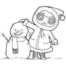 snowmen coloring pages hellokids