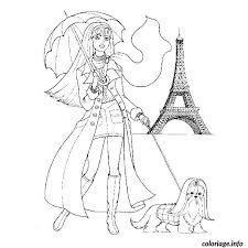 Coloriage Fille Mode Paris dessin
