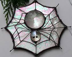 stained glass spider etsy