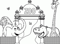 zoo coloring book coloring pages free blueoceanreef