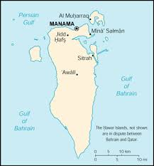 map of bahrain of bahrain