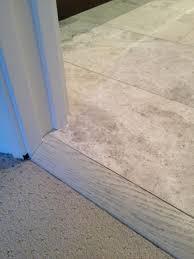 Best Flooring For Basement Bathroom by Best 25 Carpet To Tile Transition Ideas On Pinterest Transition