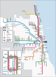 Chicago On A Map by The Cta Train System Is An Old Transportation System In Chicago