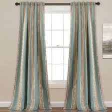 Blue And White Striped Drapes Striped Curtains U0026 Drapes You U0027ll Love Wayfair