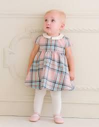 pink tartan pink tartan woollen baby dress seraphine baby