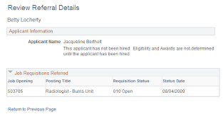 Resume Applicant Entering Referrals
